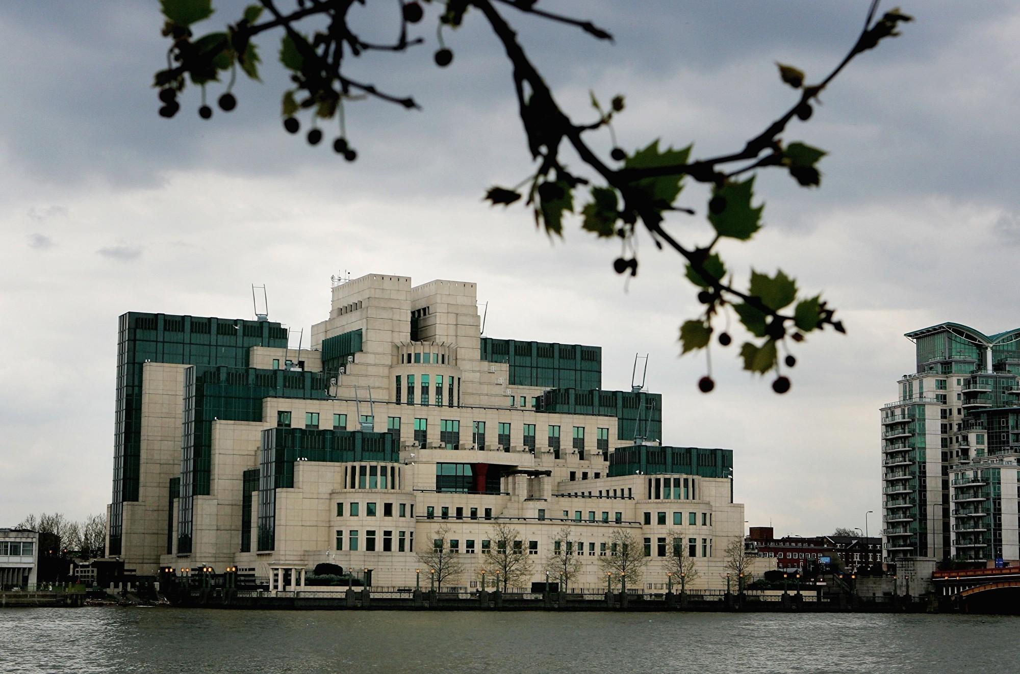 倫敦市中心泰晤士河畔的英國情報部門軍情六處MI6大樓。(Daniel Berehulak/Getty Images)