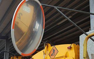 保障民眾安全 田中鎮垃圾車加裝凸面鏡
