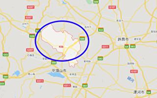 河南省郟縣人民醫院3名醫生感染中共肺炎,全縣封閉。(谷歌地圖)
