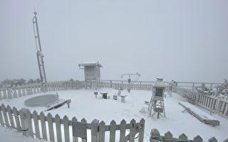 玉山积雪14公分 玉管处吁山友做好风险评估