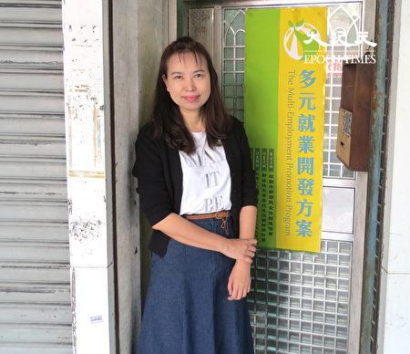 杨慧青在新住民服务据点,服务新住民法律咨商、生活适应等各项问题。