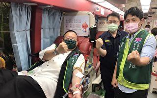 桃園平鎮警分局員警共同挽起袖子  捐出熱血