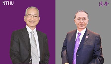 清华数学系73级校友黄调贵(左)与清华材料系硕士77级毕业的吴林茂是今年清华大学的杰出校友。
