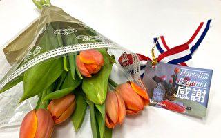 荷兰国庆空运3999朵郁金香来台  向一线医护致谢