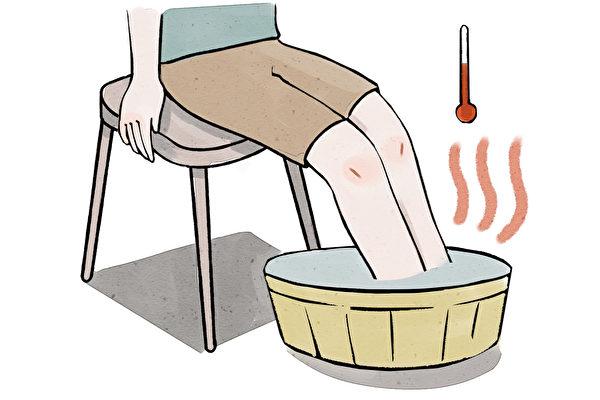 足浴的水溫以38 ~ 42℃為宜。(幸福文化提供)