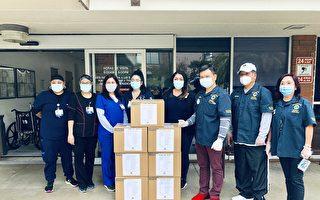 洛华夏狮子会向三家医院捐赠医护用品