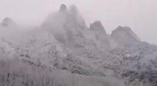 【現場視頻】山東全省降溫 多地下鵝毛大雪