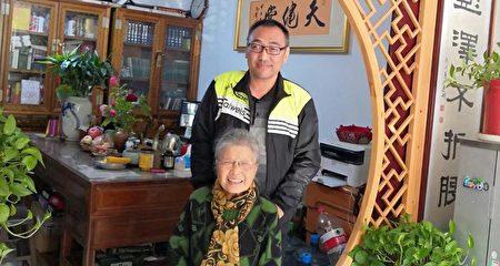 2019年夏天,趙中元醫生和六四天網黃琦的母親。(趙中元提供)
