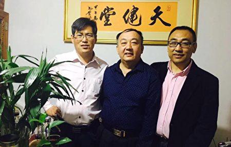2016年,趙中元醫生(右)和藺其壘律師(左)、馬連順律師(右)。(趙中元提供)