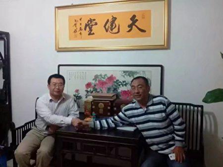 2015年趙中元醫生和江天勇律師。(趙中元提供)