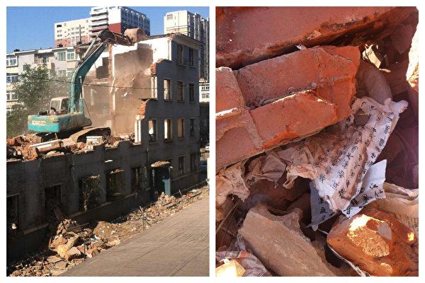 2014年5月30日,寧先華位於瀋陽皇姑區嫩江街40號的兩套私有住宅被強拆。(受訪者提供)