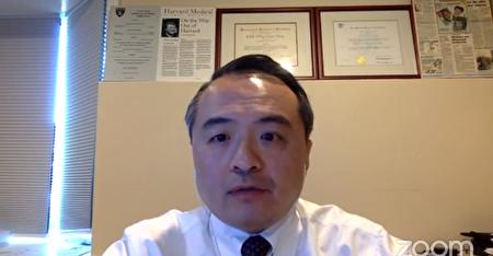 史丹福大學王智弘教授在5月22日的「COVID-19及臺灣:國內及國際影響」會議發言。