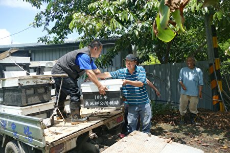 蜂农将蜜蜂运送到产销班。