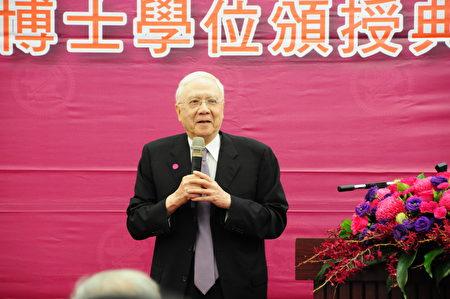 前清華大學校長劉炯朗致詞