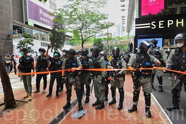 5月24日,大批港人舉行遊行,反對「港版國安法」。(ANTHONY WALLACE/AFP via Getty Images)