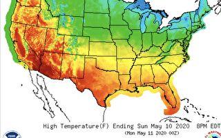 母親節週末 美東北部降雪 部分地區酷熱