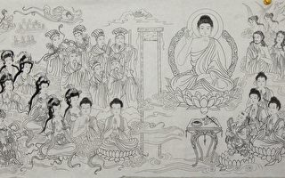 组图:法轮功学员绘画雕刻作品 庆大法日
