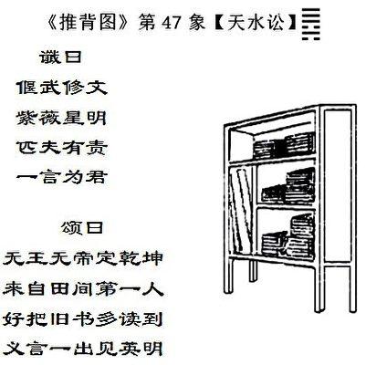 圖6:《推背圖》金批本第47像,義言對應今天。(古金提供)