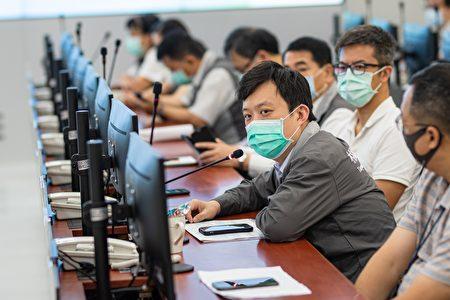 桃園市秘書處長顏子傑報告防疫物資