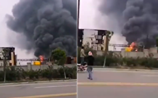 【现场视频】沙洋美众科技有限公司车间着火