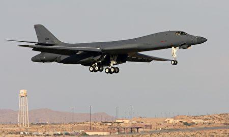 圖為美國空軍B-1B超音速轟炸機。