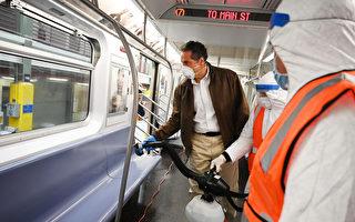 纽约州长巡视地铁清洁流程