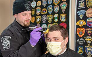 理发店关门 麻州警员互相剪发