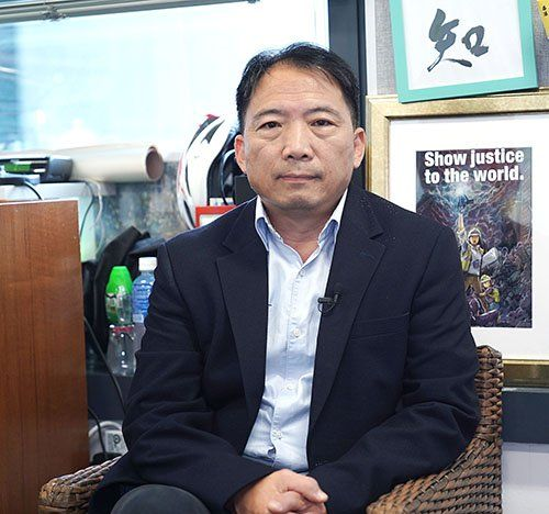 民主黨主席、立法會議員胡志偉。(大紀元)