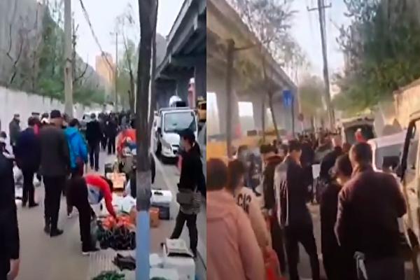 【现场视频】哈尔滨一市场看的人多 买的少