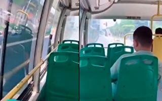 网传武汉公交车上不让开空调。(视频截图合成)