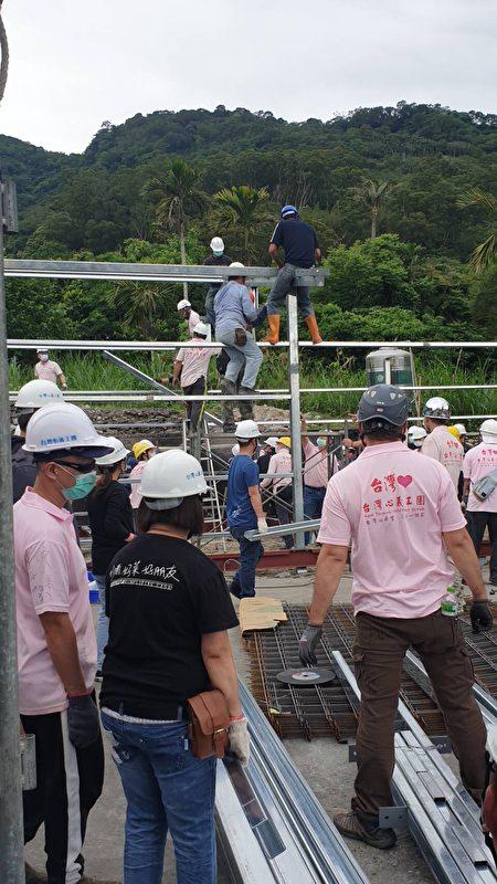 台湾心义工团分工有秩,只花了3个工作天,就完成现地重建。