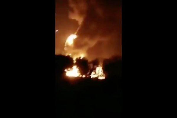 辽宁抚顺中石油化工厂爆炸起火 疑遭雷击