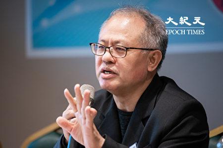 民主基金會副行政總裁顏建發。(陳柏州/大紀元)