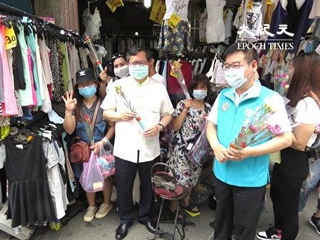 桃园市长郑文灿关怀移工朋友并发送康乃馨,祝福大家母亲节快乐。