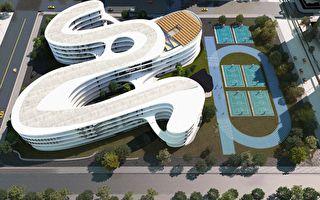 突破制式空間設計 竹縣打造流動曲線校園