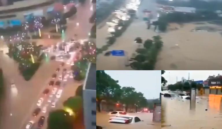 【現場影片】廣西多地爆發洪澇 街道成河