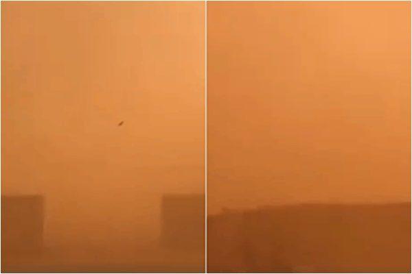 內蒙古沙塵暴天氣。(網絡圖片)