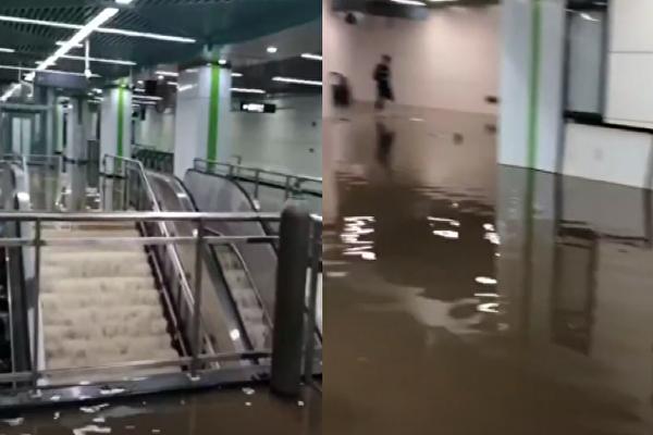【現場視頻】長沙一地鐵大量湧水 涉貪腐案