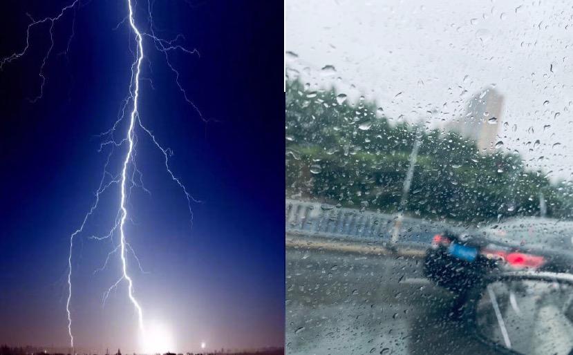 【現場影片】兩會首日 北京降暴雨 驚雷炸響