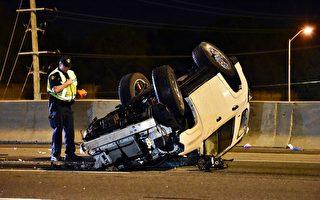 SUV午夜撞貨車 女司機被空運醫院搶救