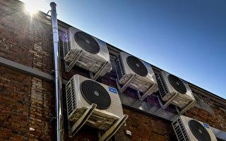 電氣因素是引起火災的最大原因,其中冷氣和電風扇是高溫天氣中常見的起火源。 (DIRK WAEM/AFP via Getty Images)