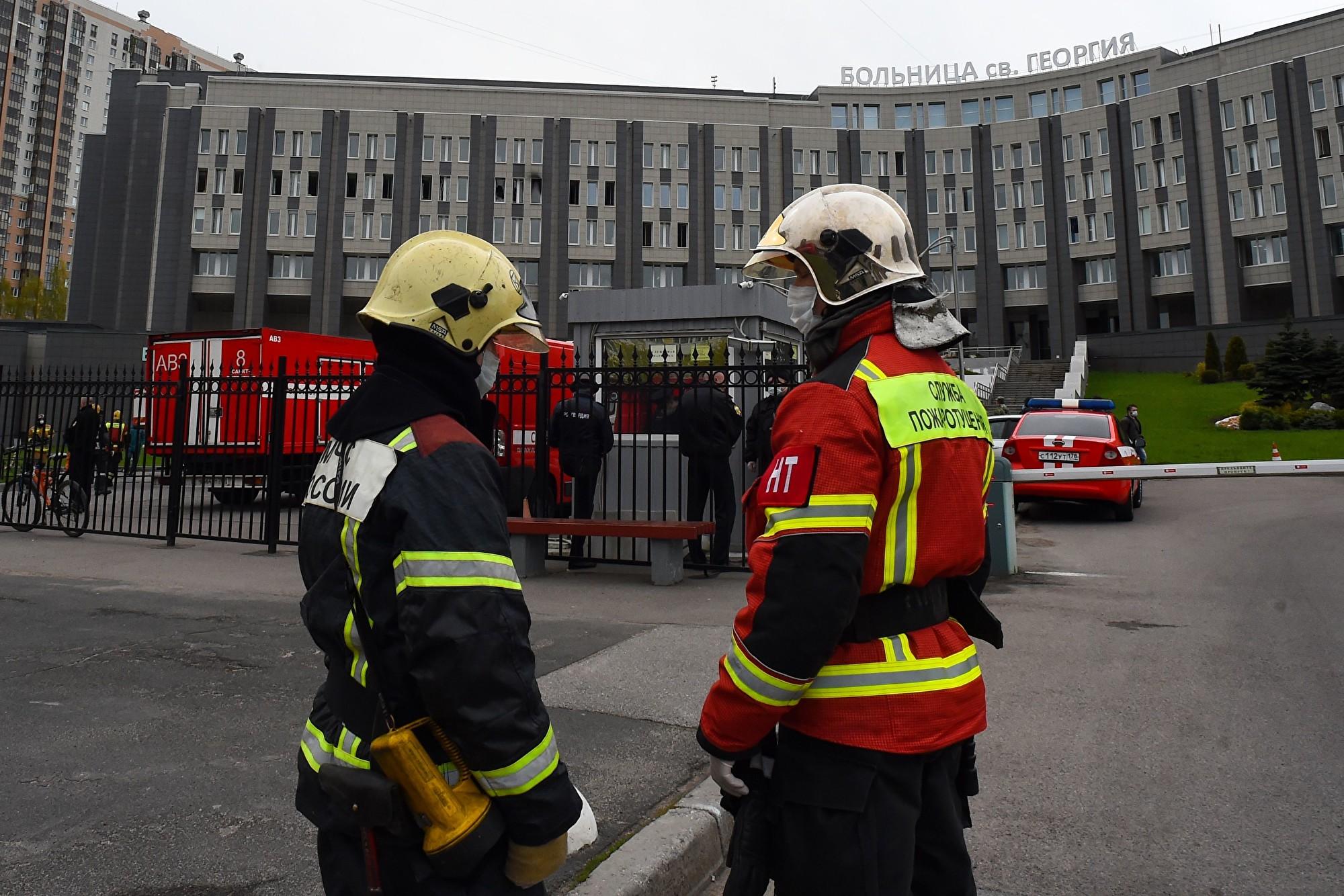 俄國聖彼得堡醫院大火 五名肺炎重症者喪生