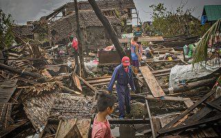 組圖:颱風黃蜂襲菲律賓 房屋損毀民眾疏散