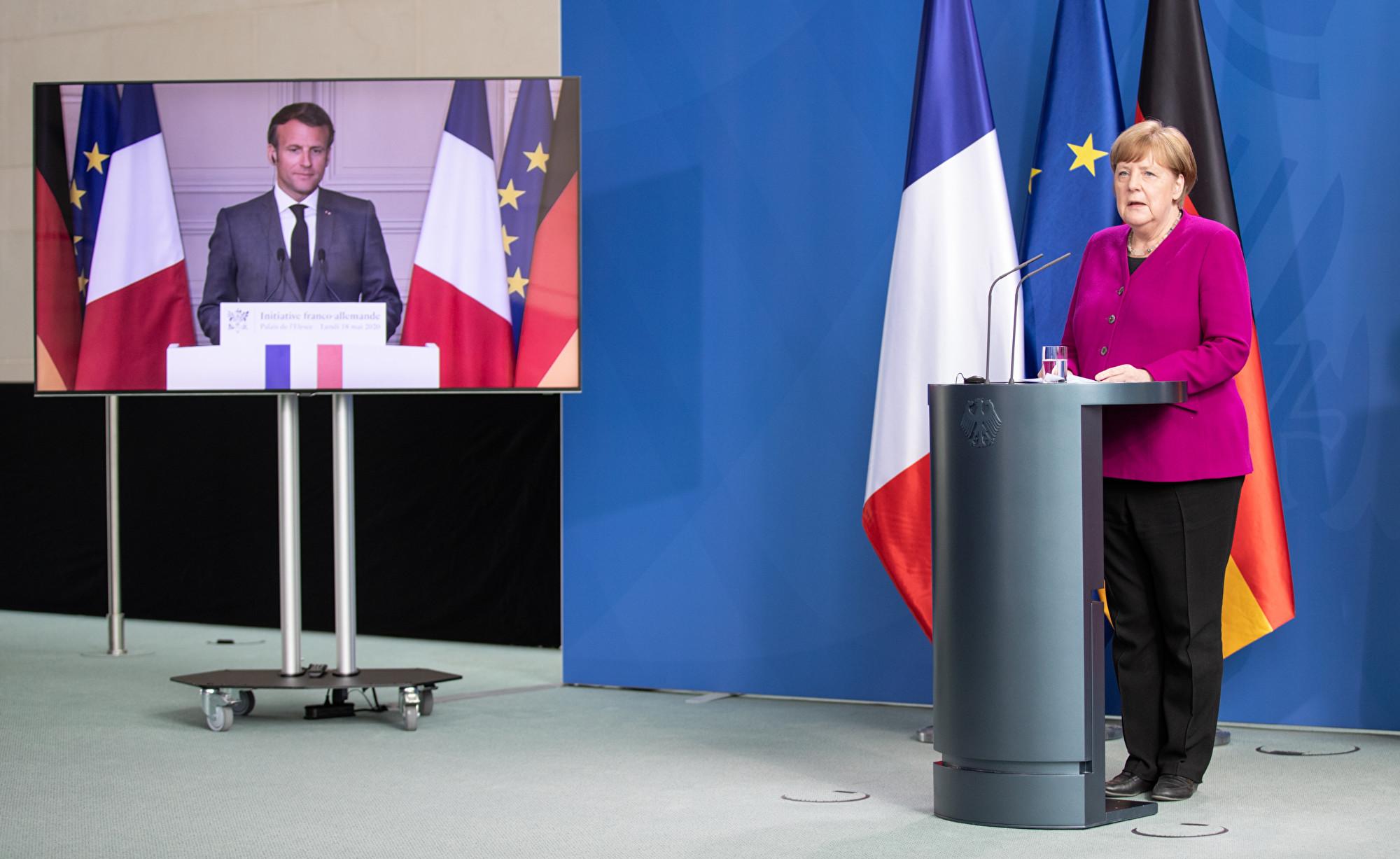 法德兩國提議共創五千億歐元基金 復興經濟