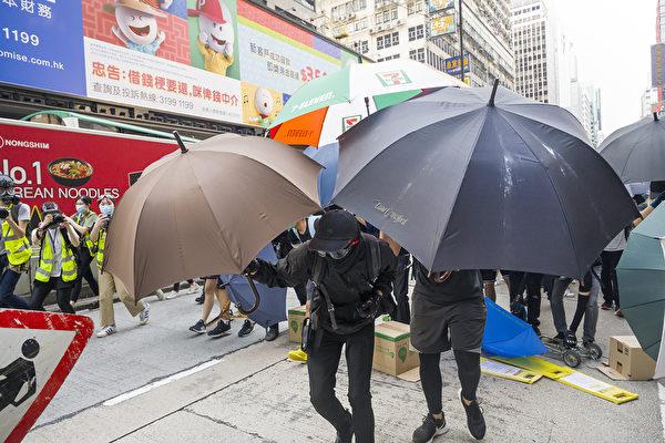 5月27日,港人發起抗議《國歌條例草案》二讀的行動。(Billy H.C. Kwok/Getty Images)