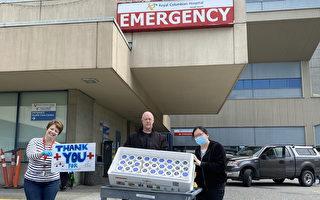 图:Mr. Gold's Gelato冰淇淋店在疫情期间,特别为第一线防疫应急服务人员,送上一份冰甜的冰淇淋表达关怀与感谢。(Mr. Gold's Gelato提供)