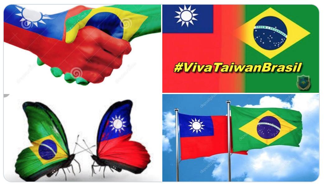 中共施壓巴西議員的公文曝光後,「台灣萬歲」成推特熱詞,多個巴西友好台灣的標誌熱傳。(推特)