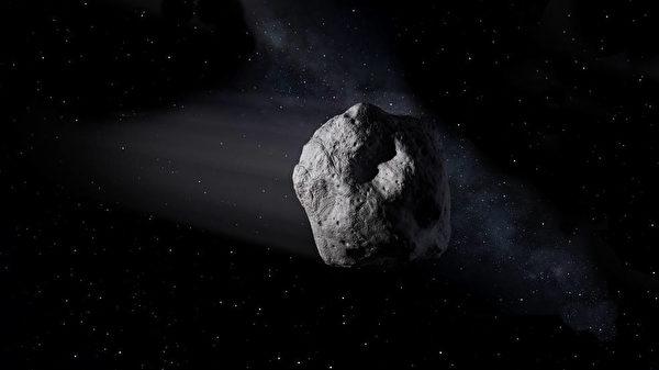 這是藝術家繪製的近地小行星示意圖。(NASA/JPL-Caltech)