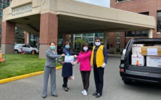 「幫幫忙基金會美東分會」及「世華工商婦女會新州分會」捐防疫物資