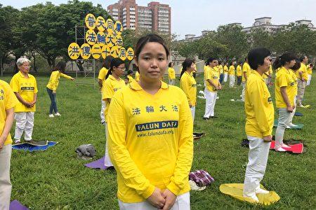 2020年5月2日,台灣新竹地區法輪功學員董岱靈分享身心受益的修煉心得。(林倩玉/大紀元)